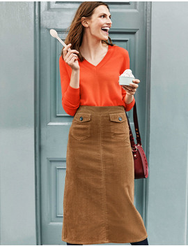 Natalie Midi Skirt   Gingerbread by Boden