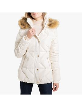 Padded Jacket With Faux Fur Collar by Anne Weyburn