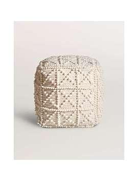 Textured Square Pouffe by Olivar Bonas
