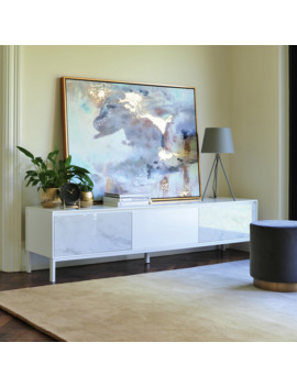 Avant Tv Unit White Marble Ceramic by Dwell