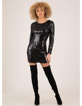 Feel Special Sequined Cut Out Minidress by Go Jane