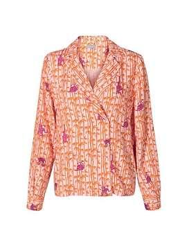 Palm Print Wrap Shirt by Olivar Bonas