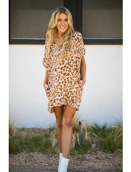 Girls Night Out Leopard Dress by Hazel & Olive