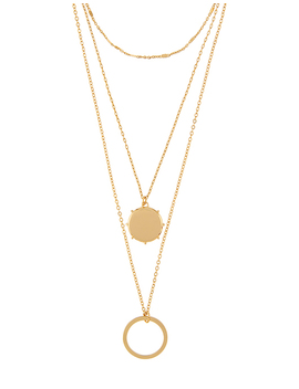 Circle Multi Row Necklace by Accessorize