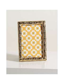 "Bamboo Gold Portrait Standing Photo Frame 6x4"" by Olivar Bonas"