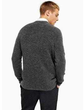 Grey Raglan Knitted Jumper by Topman