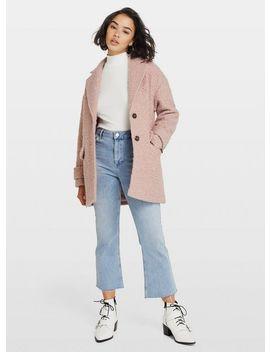 Petite Pink Boucle Coat by Miss Selfridge