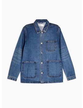 Indigo Denim Chore Jacket by Topman