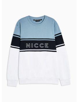 Nicce Blue Panel Sweatshirt by Topman