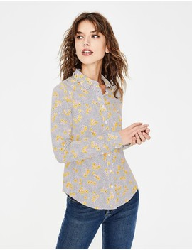 Modern Classic Shirt   Saffron Country Posy Mono by Boden