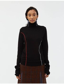 Contrast Seamed Turtleneck In Black by Andersson Bell Andersson Bell