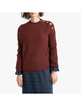 Buttoned High Neck Jumper by La Redoute Collections