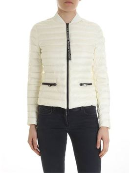 Blenca Cream Colored Down Jacket by Moncler