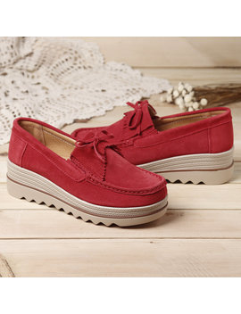Plus Size Women Moccasins Suede Tassel Flat Platform Sneakers Shoes by Newchic