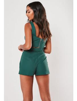 Teal Co Ord Belted Shorts by Missguided