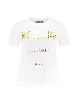 Foil Logo Regular Fit T by Moschino