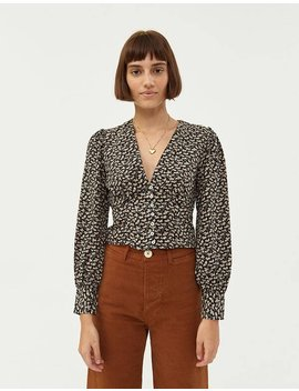 Perrine Waisted Blouse by Farrow Farrow