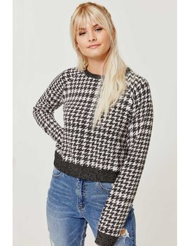 Cropped Houndstooth Sweater by Ardene