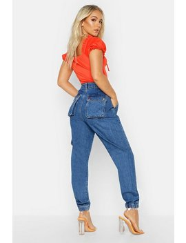 Petite Cargo Pocket Jeans by Boohoo