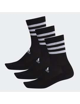 3 Streifen Cushioned Crew Socken, 3 Paar by Adidas