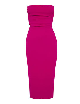 Dylan Strapless Stretch Crepe Midi Dress by Alex Perry