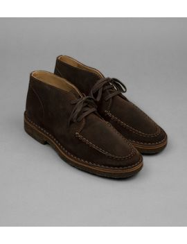 Crosby Moc Toe Chukka Boot Brown Suede by Drake's