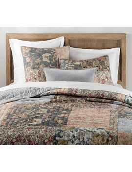 Rosalyn Patchwork Cotton Quilt & Shams by Pottery Barn