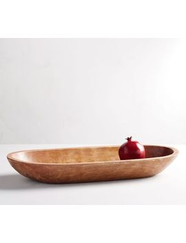 Vintage Wood Oval Tray by Pottery Barn