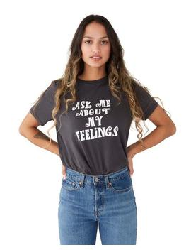 Ask Me About My Feelings Tee   Vintage Black by Ban.Do