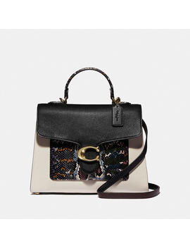 Tabby Top Handle In Colorblock Snakeskin by Coach