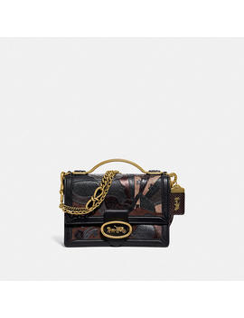 Riley Top Handle 22 In Signature Canvas With Starscape Patchwork And Snakeskin Detail by Coach