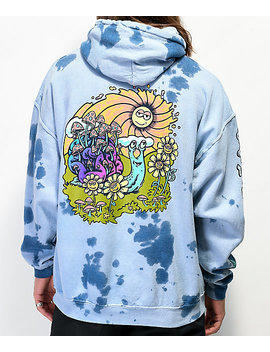 A Lab Hippie Snail Blue Tie Dye Hoodie by A Lab