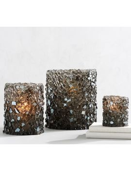 Rock Crystal Candle Holders by Pottery Barn