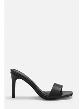 Black Low Heel Mules by Missguided