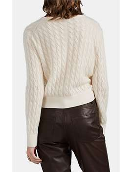 Rozanne Cable Knit Cashmere Silk Sweater by The Row