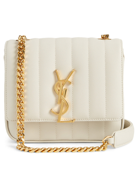 Small Vicky Ysl Monogram Leather Chain Bag by Holt Renfrew
