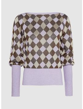 Cobana Check Print Metallic Cotton Blend Jumper by Baum Und Pferdgarten