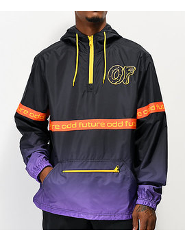 Odd Future Ombre Black &Amp; Purple Anorak Jacket by Odd Future
