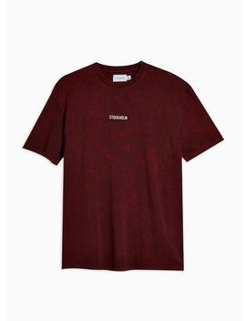 Burgundy Stockholm T Shirt by Topman
