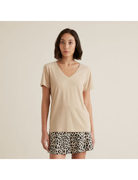 V Neck Rib Tee by Seed Heritage