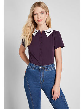 Party Favorite Short Sleeve Top by Modcloth