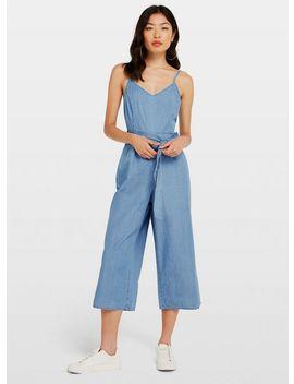 Blue Camisole Denim Jumpsuit by Miss Selfridge