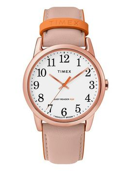 Easy Reader Color Pop 38mm Leather Strap Watch by Timex