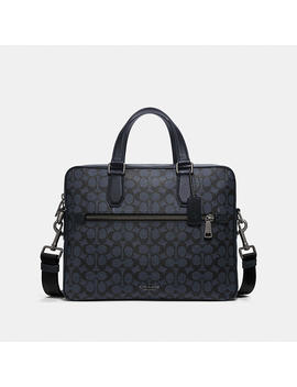 Kennedy Brief In Signature Canvas by Coach