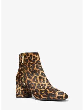 Alane Leopard Calf Hair Ankle Boot by Michael Michael Kors