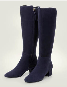 Kennford Knee High Boots   Navy by Boden
