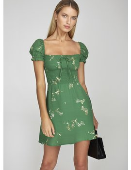 Myrtille Floral Print   Green   Genevieve Dress by Faithfull The Brand