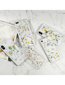 Real Flowers Dried Flowers Soft Tpu Back Cover For I Phone X 6 6 S 7 8 Plus Case Transparent Phone Case For Iphone Xr Xs Max Cover by Ali Express.Com