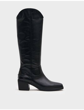 Simone Tall Leather Boot In Black by Vagabond Vagabond
