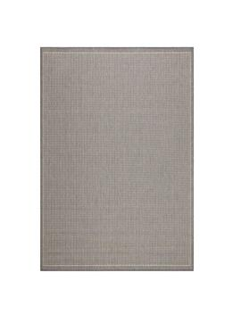 Saddlestitch Grey/Champagne 4 Ft. X 5 Ft. Area Rug by Home Decorators Collection